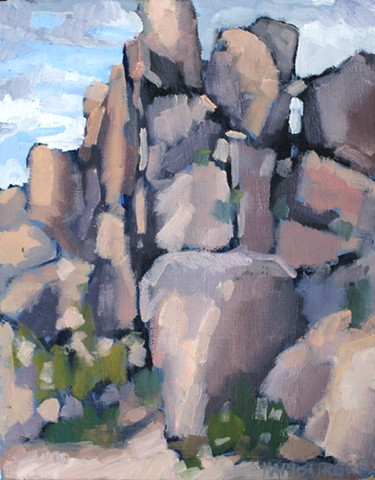 Boulder Arrangement 2, 8x10in, oil on canvas, sold