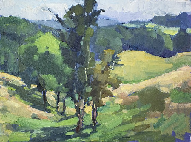 Valley, 9x12in, oil on panel, sold