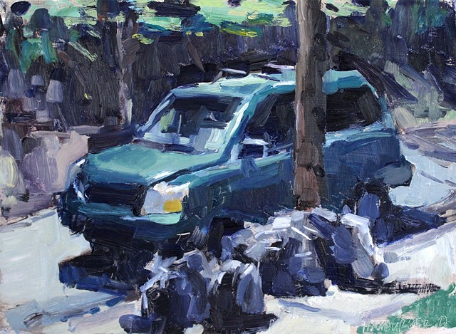 Honda Pilot Nocturne, 9x12in, oil on panel, sold