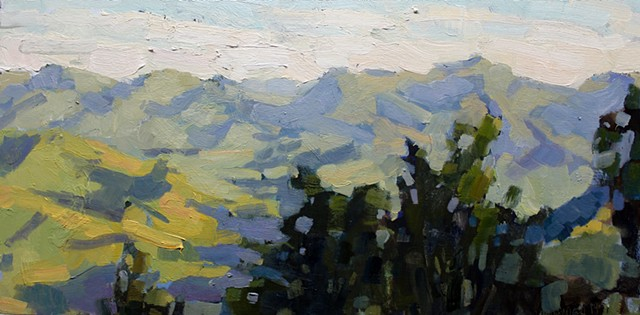 Blue Ridge 2, 10x20in, oil on canvas, sold