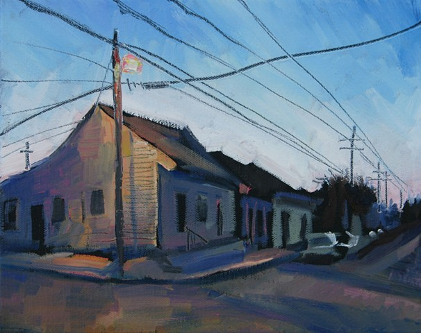 Corner Light, 9x12in, oil on canvas