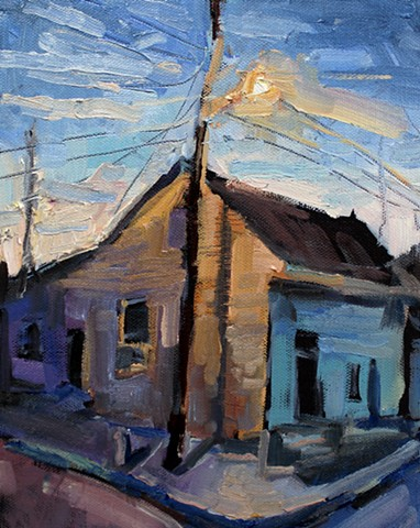 Corner House, 10x8in, oil on canvas