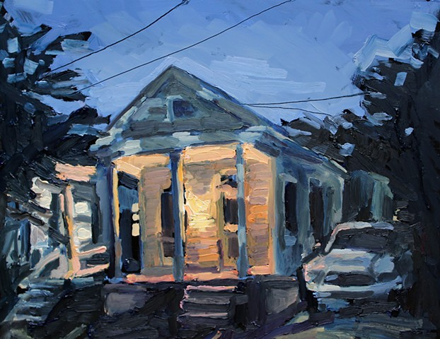 Porch Light, 11x14in, oil on panel