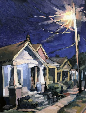 Bungalows, 12x16, oil on canvas, sold