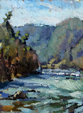 French Broad River, 12x16in, oil on panel, Available
