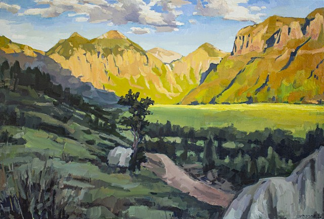 Telluride Valley, 24x36in, oil on canvas, commission, sold