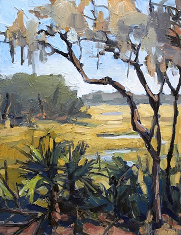 Marsh Beyond, oil on panel, 18x14in, sold