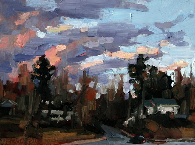 Asheville Winter 1, 9x12in, oil on panel, available