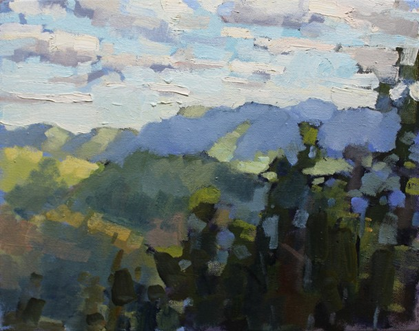 Blue Ridge 1, 11x14in, oil on canvas, sold