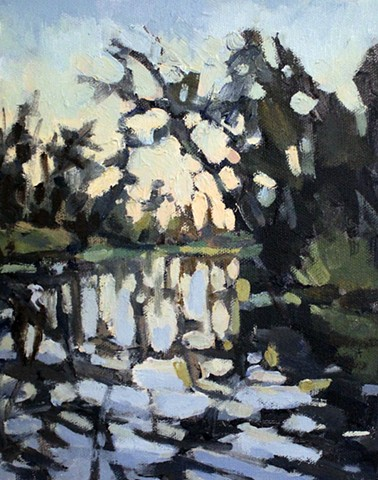 Bayou Dusk, 8x10in, available