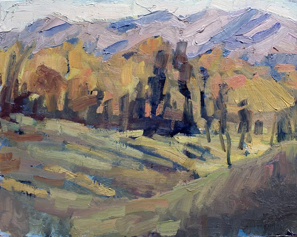Fall Pasture, 11x14in, oil on panel, sold
