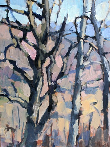 Winter Trees, 12x16in, oil on panel, available