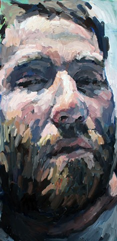 Selfie, oil on canvas, 48x24in, available