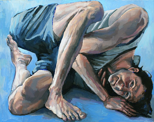 The Acrobat, oil on canvas, 48x60in, available