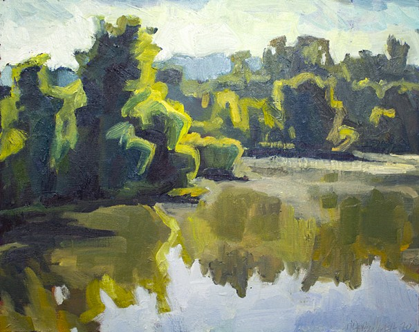 Beaver Lake Morning, 16x20in, oil on canvas, available
