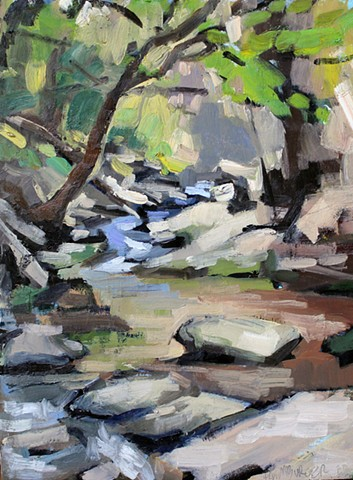Creek Rocks, 9x12in, oil on panel, sold