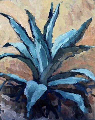 Agave, 11x14, oil on canvas, sold
