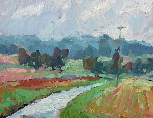 Mapleview Farm, 11x14in, oil on panel, sold