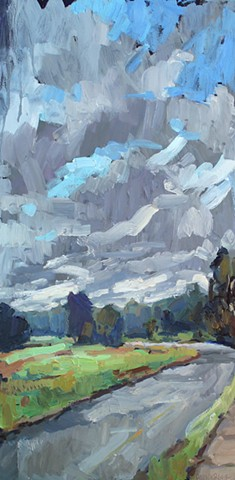 Old Fayetteville Rd, 12x24in, sold