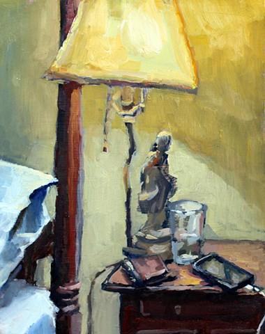 Nightstand, 10x8in, oil on panel, $300