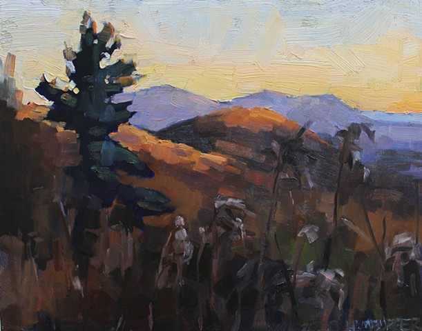 Last Light on the Parkway, 11x14, oil on panel, sold