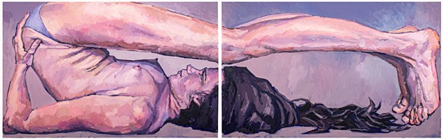 Plough, 30x96in, oil on canvas, diptych, available