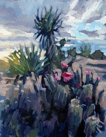 Cactus Church, 11x14in, oil on canvas, sold