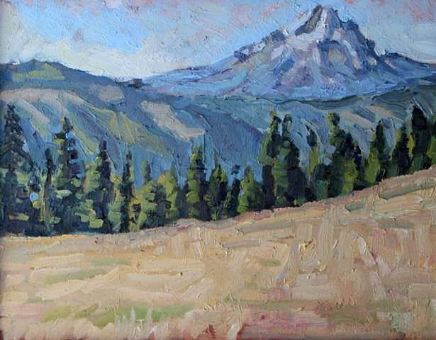 Mt. Hood Beyond 11x14in Oil on canvas