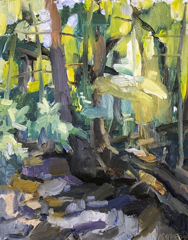 Shope's Creek, 10x8in, oil on panel, sold