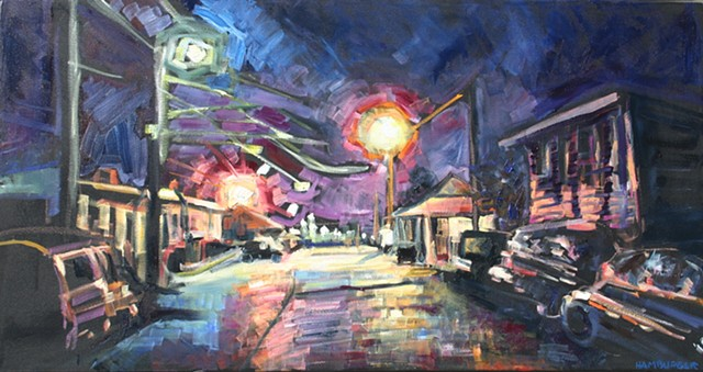 Luminous Nocturne, oil on canvas, 25.5in x 48.5in