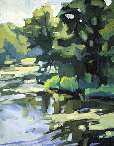 Duarte's Pond, 10x8in, oil on panel, sold
