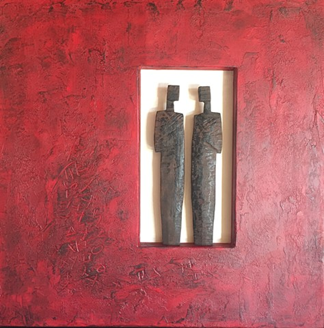 Wood Figures in Red
