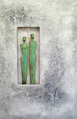 Verdigris; Two Figures