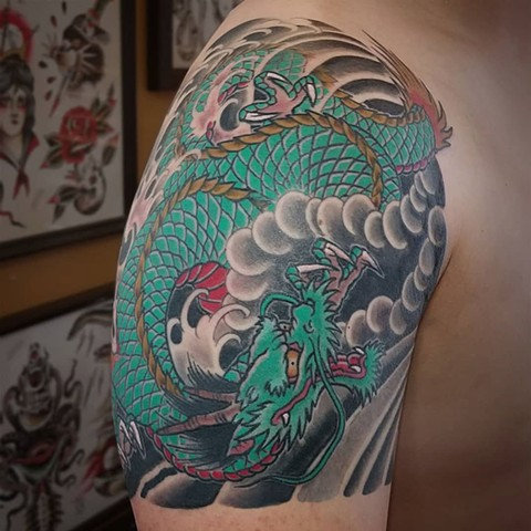 Japanese Dragon 1/4 Sleeve