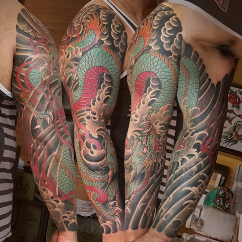 Japanese Dragon Sleeve