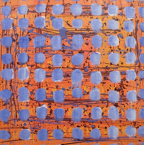 blue on orange (nods to pollock, motherwell, thomas, and hodgkin)