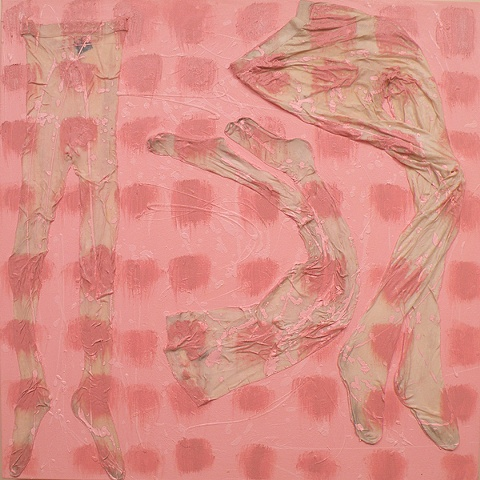 Pink Angels (nods to the de Koonings, Shapiro and Hodgkin)