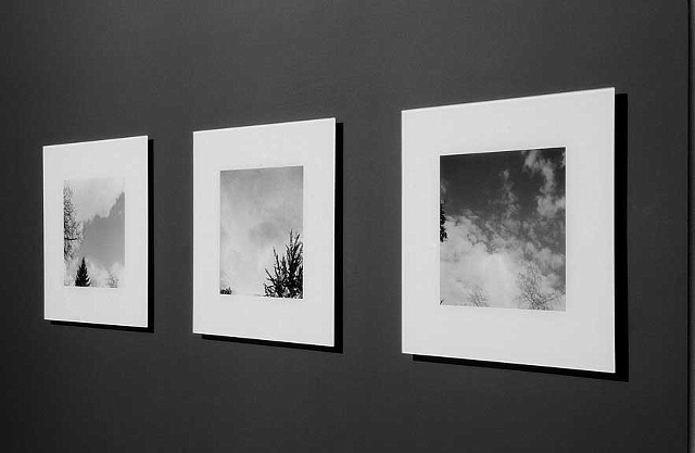 Empirical Evidence: A series of 9 black and white c-prints face mounted to acrylic.  Edition of 5 Shown: Installation view of Empirical Evidence, J Crist Gallery, 2005