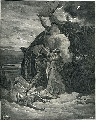 Moses Breaks Up a Fight