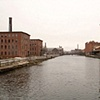 View of Holyoke, Massachusetts from a bridge that runs over the canal 1941 & 2007