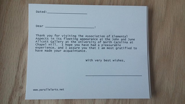 Template for official appreciation of visitors to the exhibition