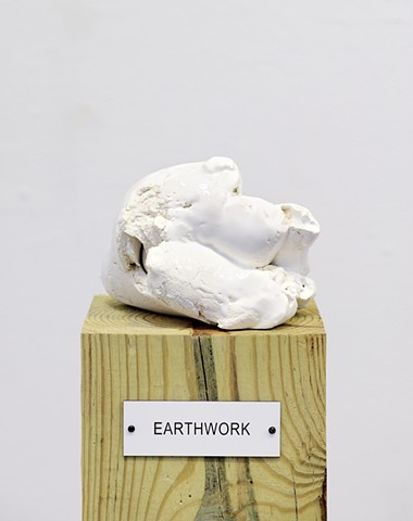 "Detail: Untitled (Plinth Studies with Ambiguous Nameplate Augmentation) [""Earthwork""]"