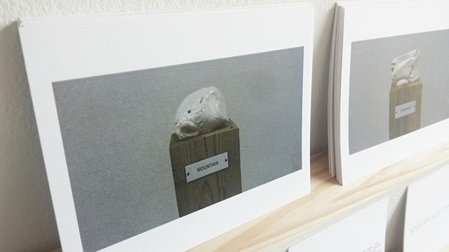 Postcards / Plinth Studies with Ambiguous Nameplate Augmentation [Gift Economy]  (Mountain)
