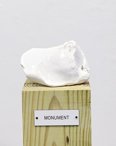 "Detail: Untitled (Plinth Studies with Ambiguous Nameplate Augmentation) [""Monument""]"