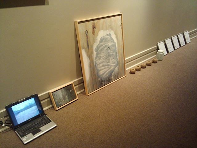 Text/Objects/Painting No. 3 (Manual Installation for Lori Waxman)