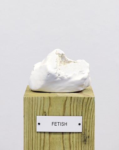 "Detail: Untitled (Plinth Studies with Ambiguous Nameplate Augmentation) [""Fetish""]"