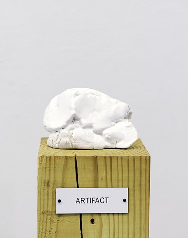 "Detail: Untitled (Plinth Studies with Ambiguous Nameplate Augmentation) [""Artifact""]"