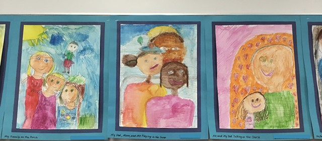 1st Grade Friends in Style of Mary Cassatt