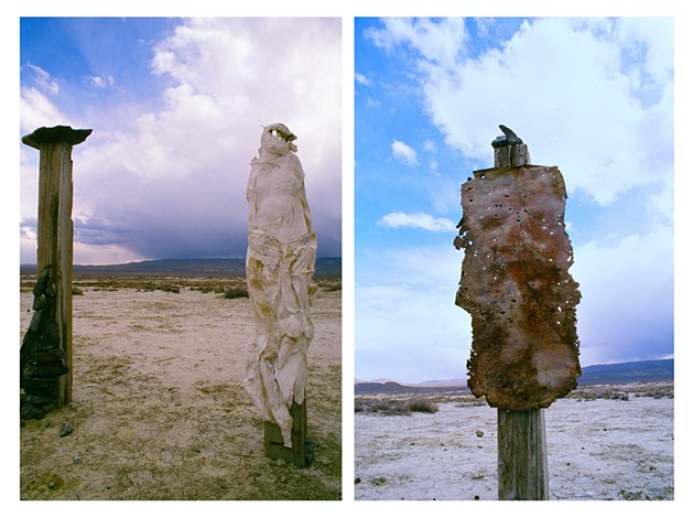 desert totems (part of the bone series, a site specific sculptural installation)