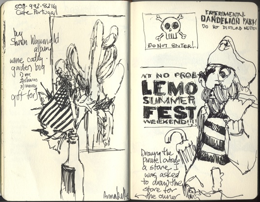 Summerfest sketchbook